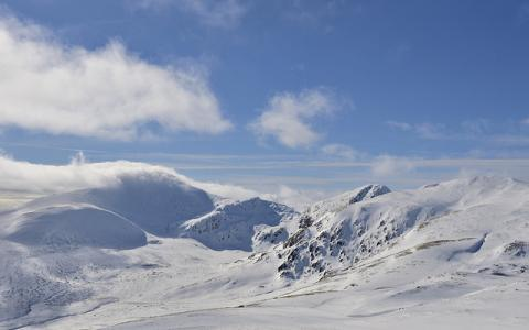 Ben Lawers and An Stuc, Ben Lawers National Nature Reserve in winter.  ©Lorne Gill/NatureScot