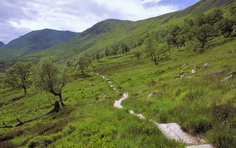 The footpath in Coire Ardair, Creag Meagaidh NNR, East Highland Area.  :copyright:Lorne Gill/SNH
